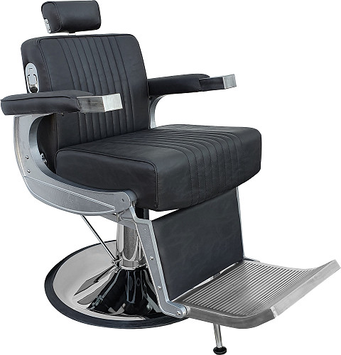 "Hairway Chaise de coiffure homme  ""DAVID"" noir"
